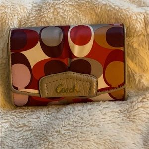 Coach Bags - Multi colored wallet